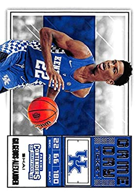 2018-19 Panini Contenders Draft Picks Game Day Tickets #14 Shai Gilgeous-Alexander RC Rookie Basketball Card