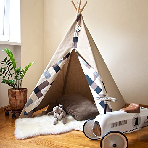 Teepee with case and poles teepee tent teepees for kids teepee tent for & Amazon.com: Teepee with case and poles teepee tent teepees for ...