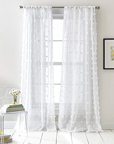 DKNY Ella Sheer Window Curtain Panel Pair