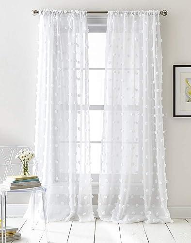 DKNY Ella Sheer Window Curtain Panel Pair - the best window curtain panel for the money