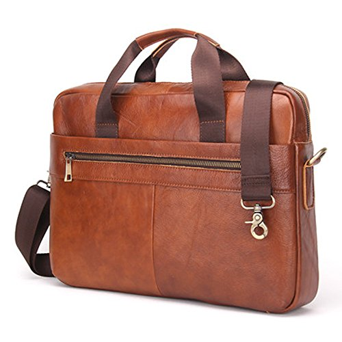 "Contacts Genuine Leather 14"" Mens Messenger Shoulder Bag ..."