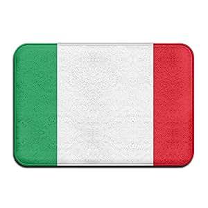 Bandera de Italia cómodo decoración del hogar Entryways–Felpudo Welcome Felpudo entrada Floor Mat Alfombra para interiores/exteriores/puerta delantera/baño Mat 40cm60cm