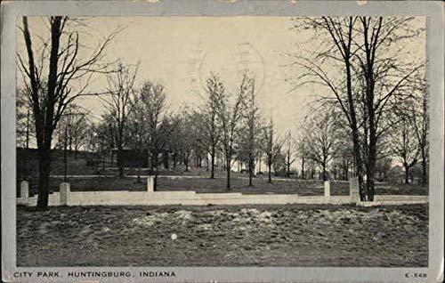 City Park Huntingburg, Indiana IN Original Vintage Postcard 1938