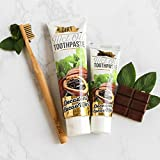 The Dirt All Natural Gluten & Fluoride Free Coconut & MCT Oil Toothpaste - Natural Teeth Whitening Toothpaste Botanically Sweetened, No Artificial Flavors or Colors | Cacao Mint, 6 Month Supply