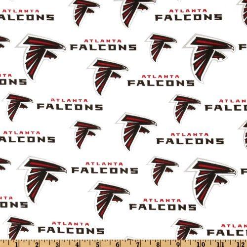 Fabric Traditions NFL Cotton Broadcloth Atlanta Falcons White Fabric by The Yard, (Atlanta Imports)