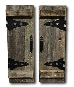 Amazon Com Barn Wood Rustic Decorative Shutter Set Of 2
