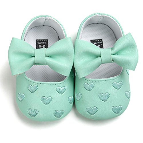zapatos niña bebe, Switch Recién nacido Bebé ninas bowknot Prewalker Zapatos primeros pasos, princesa Zapatos verano oferta 2017 moda sandalias de niña fiesta Suela blanda Verde