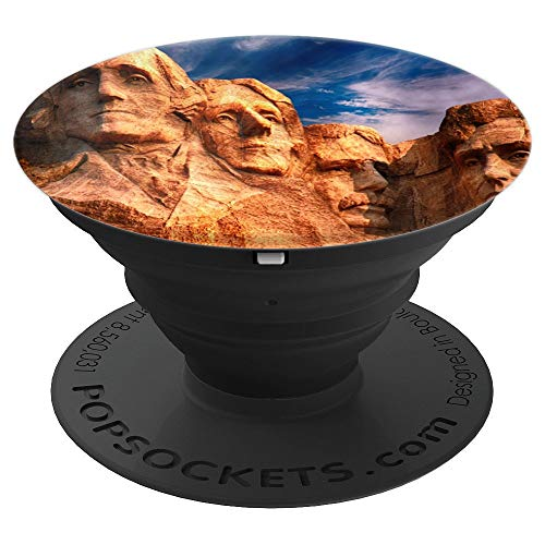 Mount Rushmore Sculpture Monument Landmark Presidents USA - PopSockets Grip and Stand for Phones and Tablets ()