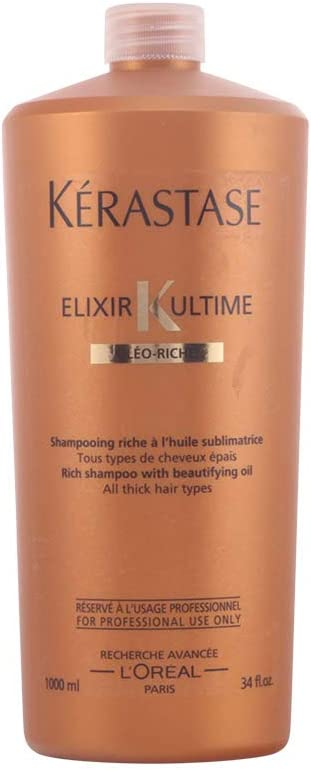 Kérastase Nutritive Champu Elixir Ultime Oléo-Riche 1000ml: Amazon ...