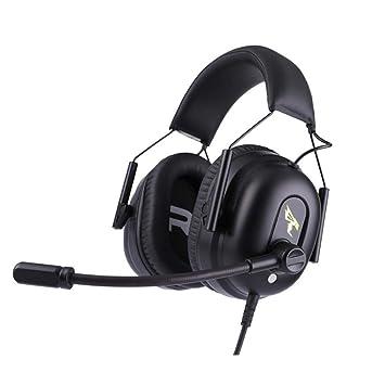 AOVOI Auriculares de USB PC Gaming Headset, cancelación de Sonido 7.1 disponen de micrófono de
