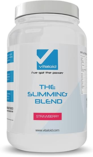 The Slimming Blend 980gr Vitaloid - Batido proteína dieta - Sustituto de comida - Excelente sabor a Fresa - Batido sustituto de comida con todos los ...