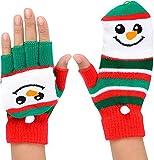 Snowman Kids Youth Fingerless Glove Mittens (1 pair per order)