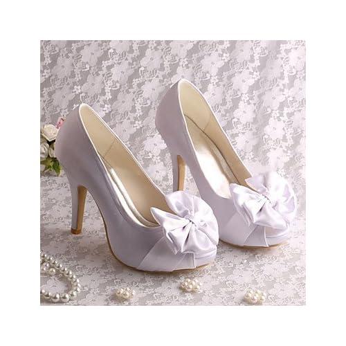 98cd1a0ac9 Buena SHUAI shoes mejor regalo para mujer y madre Mujer Zapatos Satén  Elástico Primavera Verano Pump Básico