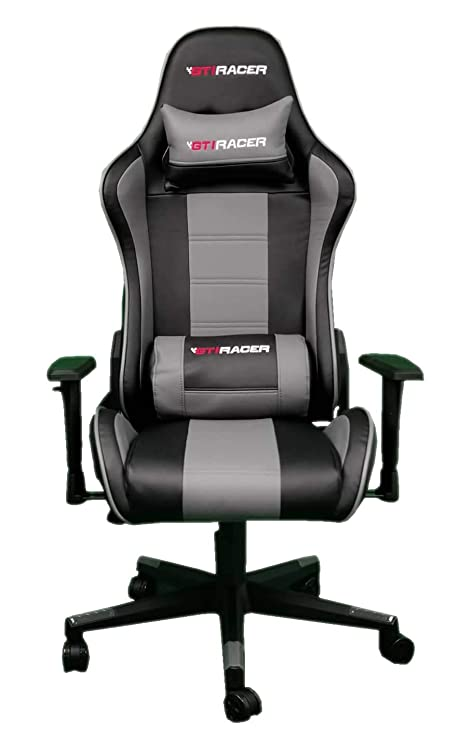 Superb Gti Racer Racing Gaming Chair With Lumbar Support Pvc Leather Office Chair With Adjustable Armrest Recliner Sport Seat For Ultimate Gaming Bralicious Painted Fabric Chair Ideas Braliciousco