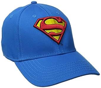 Amazon.com  Superman Men s Logo Curved Brim Baseball Cap c6bca79d15e