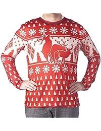 Men's Sublimated Ugly Xmas Sweater Long Sleeve T-Shirt