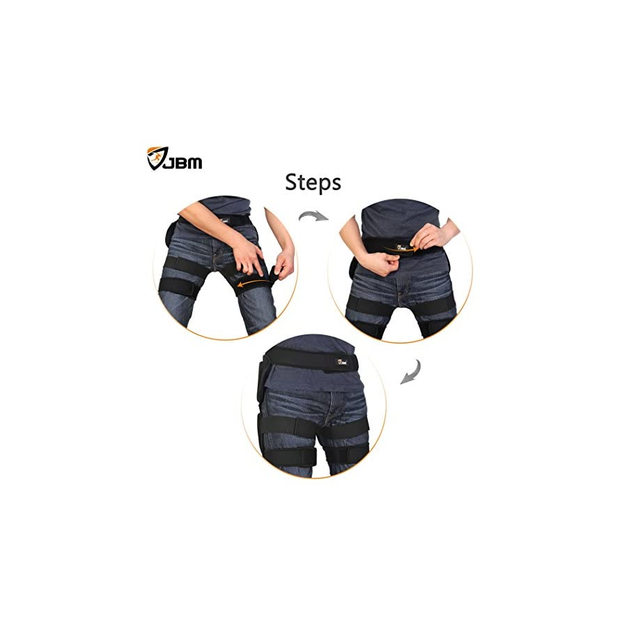 JBM Extra Large 3 Sizes Hip Padded Shorts Adjustable Protective Gear for Multi sports Purpose: Snow Skiing, Hockey, Skateboarding, Snowboard, Riding