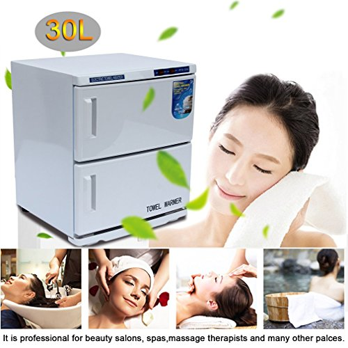 Coldcedar 2 in 1 30L 46L Towel Warmer Ultraviolet UV Sterilizer Cabinet Facial Skin Care SPA Beauty Salon Towel Disinfection Cabinet (30L) by Coldcedar