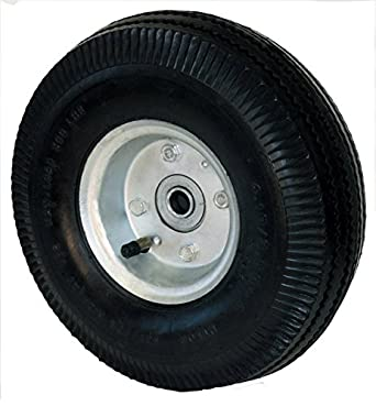 "RWM Casters FN2 10"" 4-Ply Full Pneumatic Hand Truck Wheel, 2-3/4"" Width, 5/8"" Axle, 500 lbs Capacity"