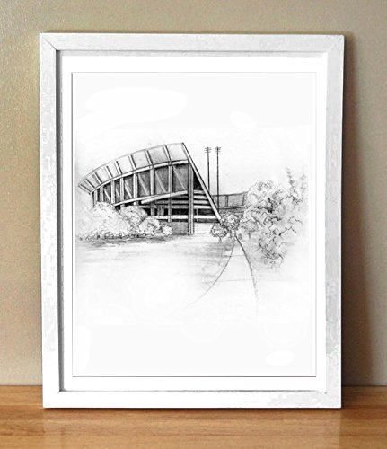 Clemson University Memorial Stadium | Death Valley Graphite Drawing | Art Print