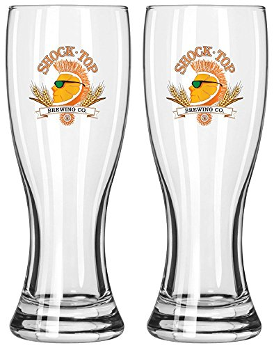 Shock Top Brewing Company 16oz Pilsner Beer Glass Set of Two ()