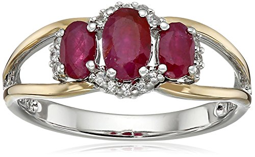 sg-sterling-silver-and-14k-yellow-gold-three-stone-ruby-and-white-sapphire-accent-ring-size-7