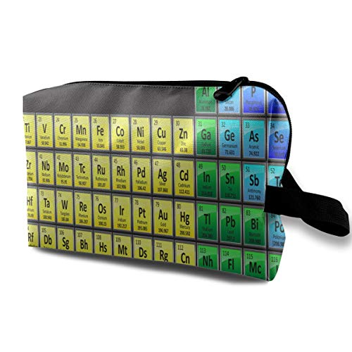 Makeup Bag Colorful Periodic Elements Handy Travel Multifunction Clutch Pouch Bags Special Storage For Girls ()