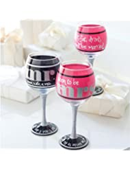 Mud Pie Engagement Wine Glasses Set Of 2