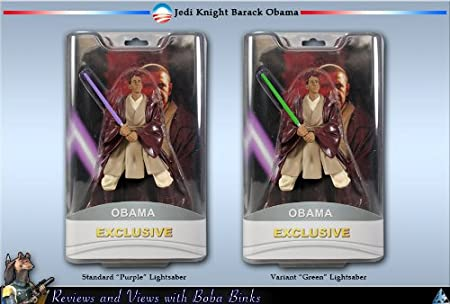 Amazon Com President Barack Obama Exclusive 7 Action Figure Purple Lightsaber Toys Games