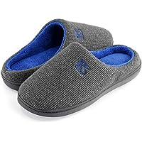 K Komforme Memory Foam Cozy Non-Slip Rubber Sole Mens Slippers for Free