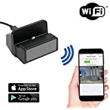 SpygearGadgets 1080P HD WiFi Internet Live Streaming Android Charger Dock Hidden Camera / Nanny Cam / Home Security Camera - Stream Live Video to iPhone or Android Devices - Model HC430wa