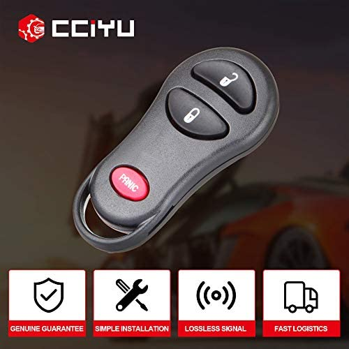 cciyu Replacement Keyless Entry Remote Car Key Fob Clicker Transmitter Alarm 1 X 3 Buttons Replacement fit for Chrysle//Dodge//Plymouth GQ43VT17T