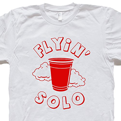 Flip Cup Beer (S - Flying Red Solo Cup T Shirt Funny Beer Tee Keg Party Flip Pong Alcohol Vintage Retro Humor Novelty Shirtmandude Tshirts)