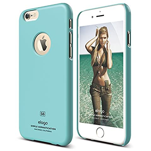 iPhone 6 Case, elago [Slim Fit][Coral Blue] - [Light][Minimalistic][True Fit] – for iPhone 6 Only (Phone Covers For Iphone 6 Elago)