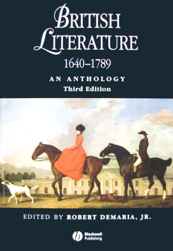 British Literature 1640 - 1789: An Anthology by Brand: Wiley-Blackwell