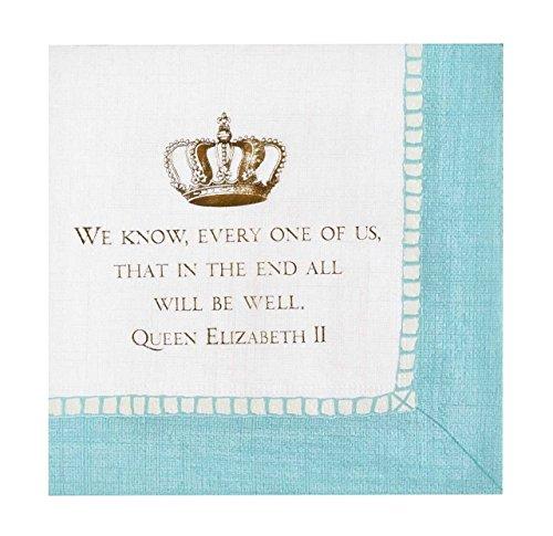 Queen Elizabeth II Paper Cocktail Napkins Commemorative Quote Pk 24