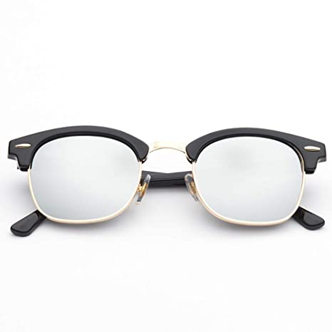 YRE Gafas de Sol de Medio Marco para niños, Gafas de Sol de ...