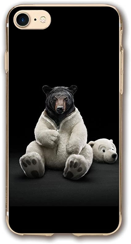 Amazon Com Case For Iphone 7 Bear Funny 4k Ultra Hd Wallpaper Slim Fit Shell Full Protective Anti Scratch Resistant Cover Apple Iphone 7 Case