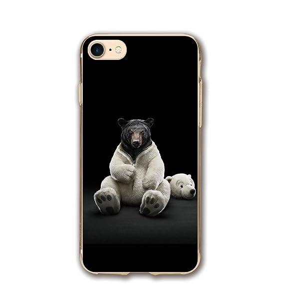 Amazon Com Case For Iphone 7 Bear Funny 4k Ultra Hd Wallpaper Slim