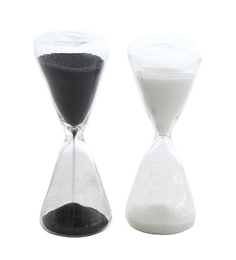 Amazoncom Decorative Hourglass Black And White 4 Inch Glass - Decorative-hourglass