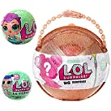 LOL Big Surprise MEGA Bundle includes (1) Limited Edition Ball, (1) Let's Be Friends! Series 2 Doll, (1) Her Lil Sister and (5) Shopkins Glitter Stickers!