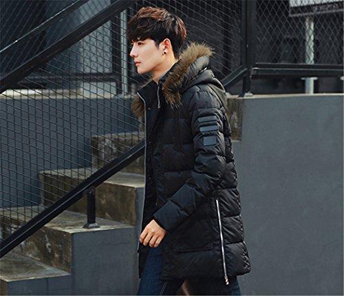 Giacca Uomo E Fashion xxl Cotone Paragrafo Il Sau Indumenti Di Lunga Lungo Denso Nero Cappotto cap wXxqpxTH
