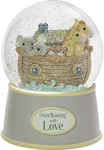 Precious Moments Overflowing with Love Noah s Ark Musical Resin Nursery Decor Snow Globe