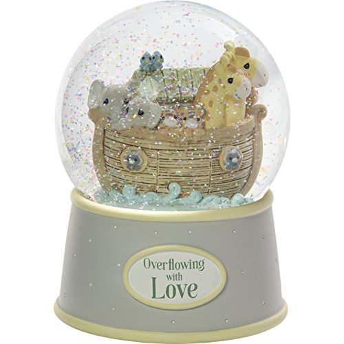 - Precious Moments Overflowing with Love Noah's Ark Musical Resin Nursery Decor Snow Globe