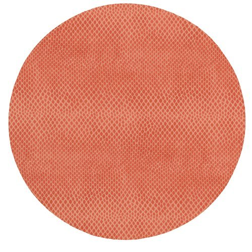 Round Placemats Table Mats Thanksgiving Placemats Christmas Placemats Faux Coral Red Leather Pk 6 by Caspari