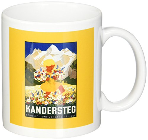 3dRose mug_170531_1 Kandersteg Switzerland Little Girl Picking Flowers in The Swiss Alps Ceramic Mug, - Alps Ceramic