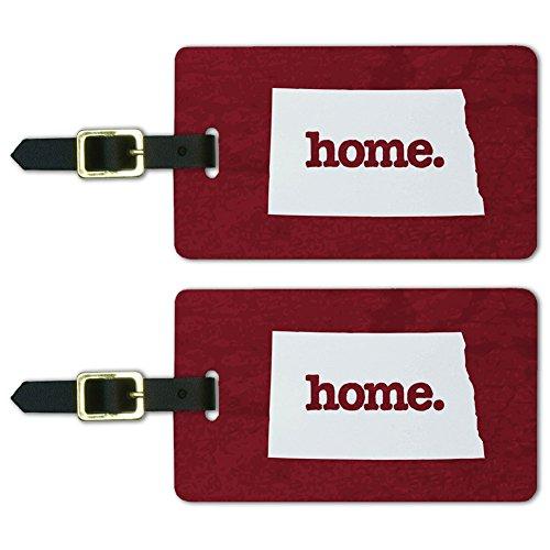 North Dakota ND Home State Luggage Suitcase ID Tags Set of 2 - Textured - Bag Dakota