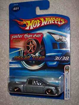 HOT WHEELS NISSAN TITAN #031 First Editions 31//38 Red Die-Cast Truck 2006