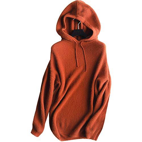 Maglione Moda Di Cachemire Cappuccio Da Donna Colore Caramello Con Td4raTwq