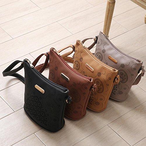 Bovake - Bolso mochila  de Piel para mujer café